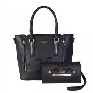 2pc set black handbag